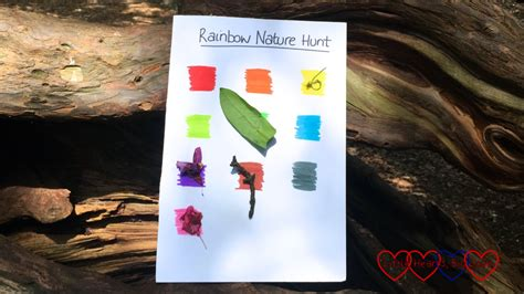 dayswild  rainbow nature hunt  hearts big love