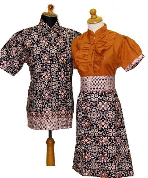 model baju dress batik modern wanita 2014 design bild
