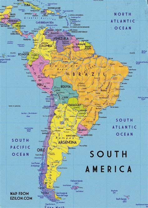 postcard  south america south america atlas