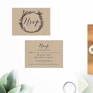 native flora brown kraft wedding invitations With rustic wedding invitations perth