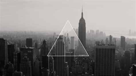 wallpaper city black dark triangle minimalism