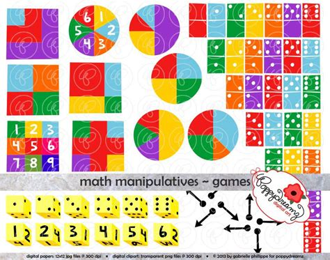 Algebra Tiles Manipulatives by Math Manipulatives Clipart Set 300 Dpi School