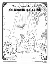 Baptism Coloring Lord Feast Uploaded sketch template