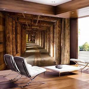 Wohnzimmer Wand Holz : wand mit fototapete gestalten f r eine optische ~ Lizthompson.info Haus und Dekorationen