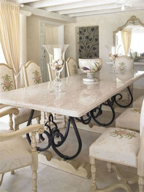 wrought iron kitchen island looking white marble dining table with black iron