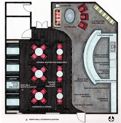 Floor Layout Of An Cafe by Design Ideas Coffee House More Squarish Coffee Shop