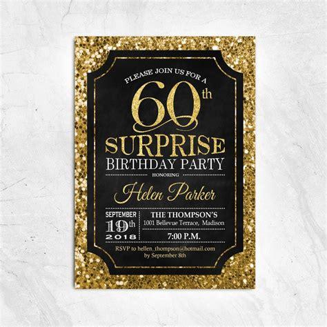 FREE 13+ Black and Gold Birthday Invitation Designs