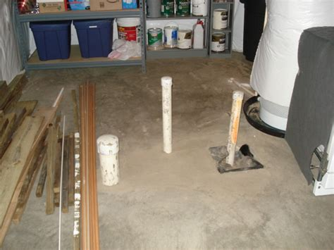 basement rough  plumbing