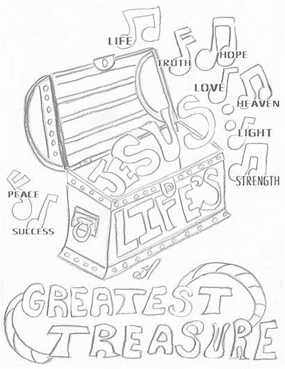 Coloring Greatest Heaven Treasure Pages Jesus Treasures