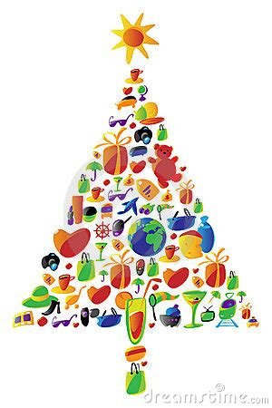 christmas tree   icons stock image image