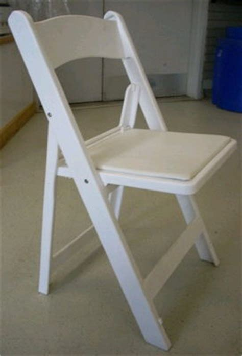 chair white cushion folding rentals burnsville mn where