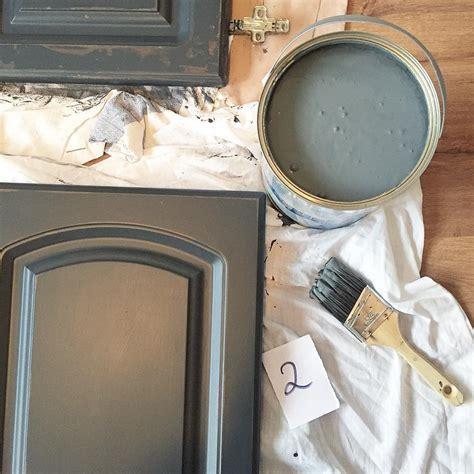 Valspar Gray Shingle Painted Kitchen Cabinets   Interiors