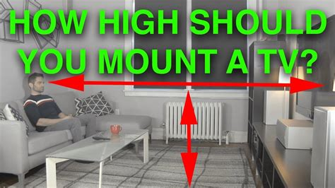 how high should i mount my tv