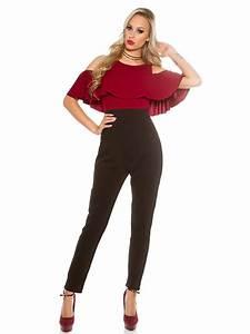 Vetement Femme Rock Chic : combinaison 2en1 amakao mode haut bordeaux bas noir chic ~ Melissatoandfro.com Idées de Décoration
