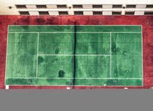 aerial view tennis court stock images   royalty
