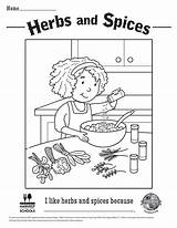 Coloring Sheets Spices Herbs sketch template