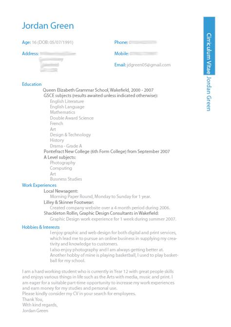 Design Of Resume by Cv Design Sle In Ms Word Format 2017 Pakistan