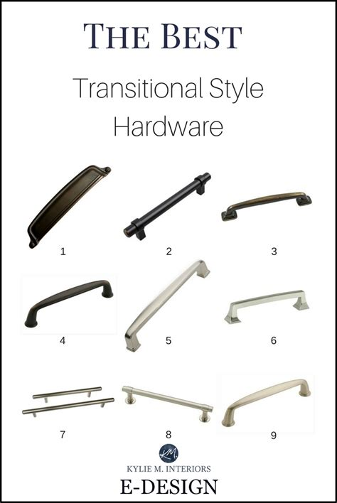 transitional style cabinet hardware  pulls