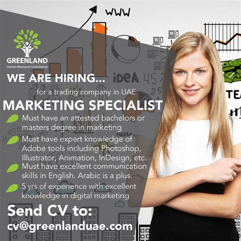 marketing masters degree we are hiring a marketing specialist for a trading