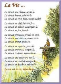 La Vie Poeme by Poeme Sur La Vie Bing Images