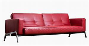 red leather sofa With red leather couch sofa bed