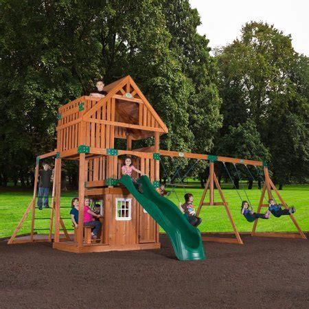backyard swing sets walmart backyard odyssey wanderer all cedar swingset walmart