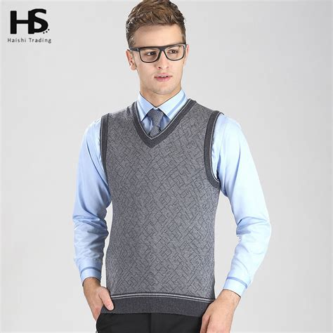 mens sweater vest hs 2016 autumn winter warm sweater