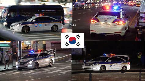 서울 경찰차 [seoul] South Korea Police Cars With Lights At