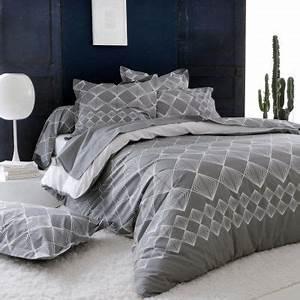 Taie D Oreiller 50x70 : taie d 39 oreiller forever gris coton imprim losanges 50x70 linge de maison ~ Teatrodelosmanantiales.com Idées de Décoration