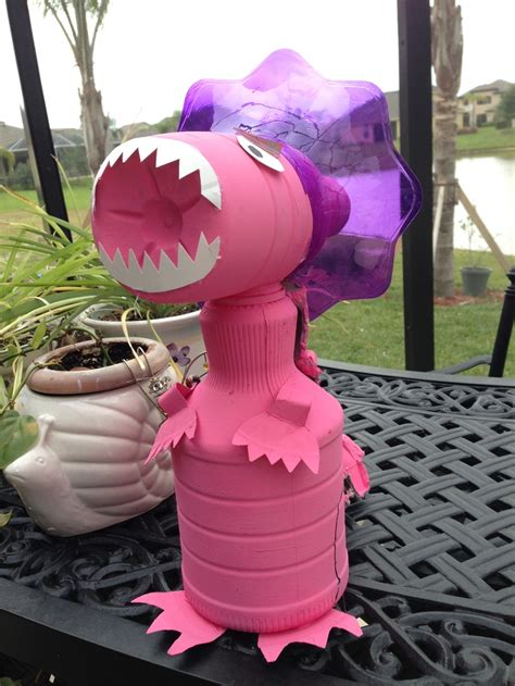 recyclable dinosaur school project   juice