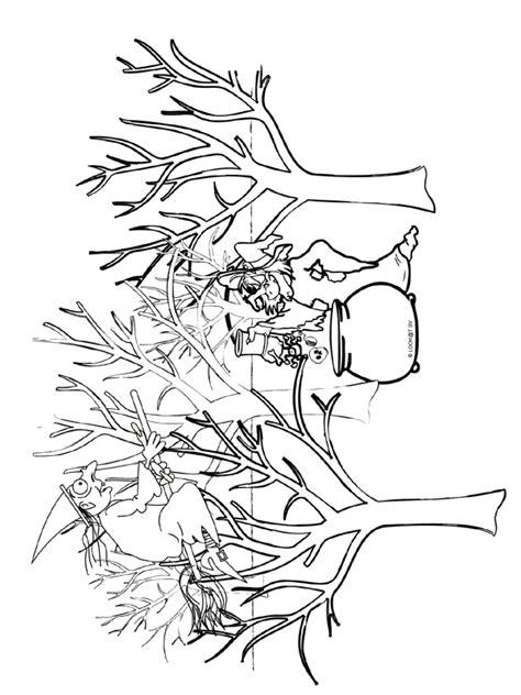 Kleurplaten Bladeren Bomen by Kleurplaat Bomen Heks Kleurplaten Nl
