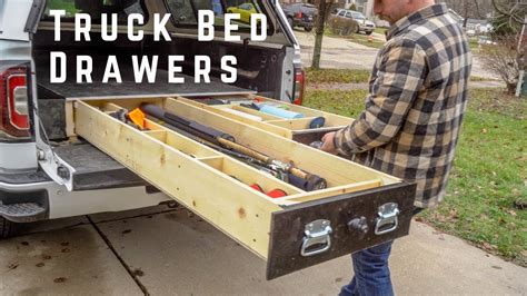 build truck bed drawers suv drawer diy youtube
