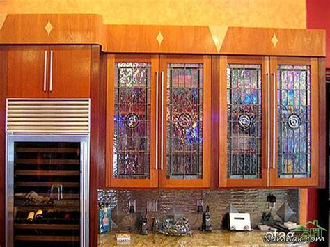 stained glass for kitchen cabinets مدل های شیک کابینت های شیشه ای آشپزخانه 8220
