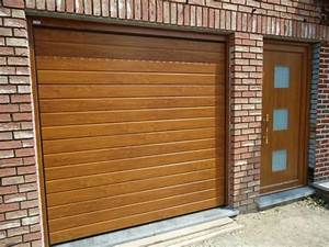 portes de garage sectionnelles film renolit With porte de garage enroulable et porte chene