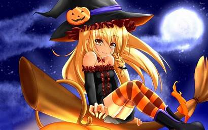 Witch Broom Blonde Halloween Wallpapers Holidays