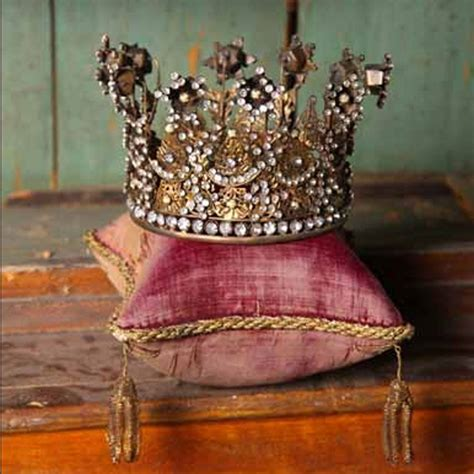 Beautiful JEWELED Antique Reproduction CROWN