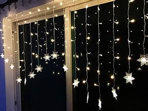 Lichtervorhang Innen Fenster : 160 er led lichtervorhang au en innen warmwei lichterkette elknim ~ Orissabook.com Haus und Dekorationen