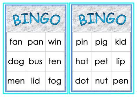 cvc words bingo worksheet  esl printable worksheets