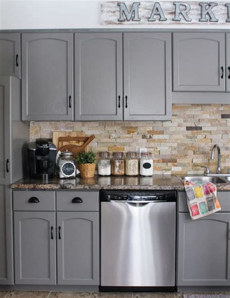Diy Kitchen Cabinet Painting Ideas by 10 Diy Kitchen Cabinet Makeovers Before After Photos