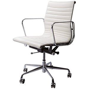 white office chair amazon amazon com spencer modern mid back leather office chair