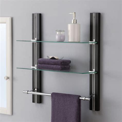 Bathroom Wall Mount Glass Shelf