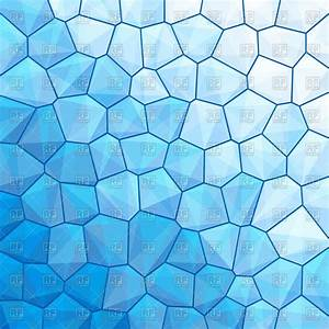 Blue stained-glass window - abstract polygonal background ...
