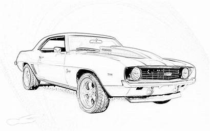 Coloring Pages Cars Chevy Camaro Printable Muscle