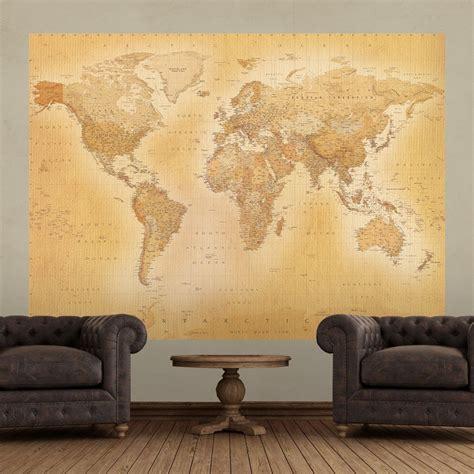 wall  world map atlas wallpaper mural