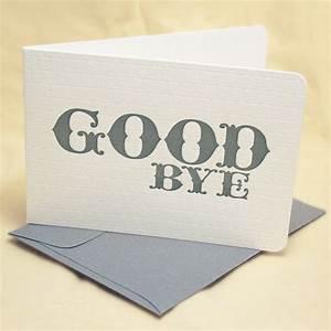 Goodbye Farewell Letter