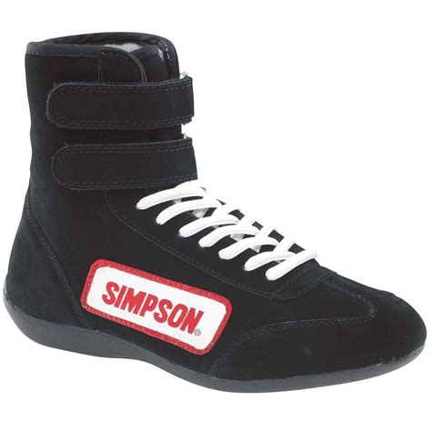 simpson racing equipment bk high top shoes black