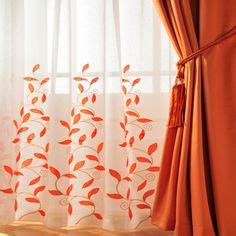 burnt orange kitchen curtains home curtains voiles