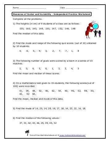 measures of variability worksheet 330 free magazines from mathworksheetsland
