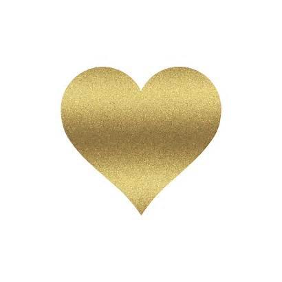 Heart Gold Glitter Clipart Hearts Golden Sparkly