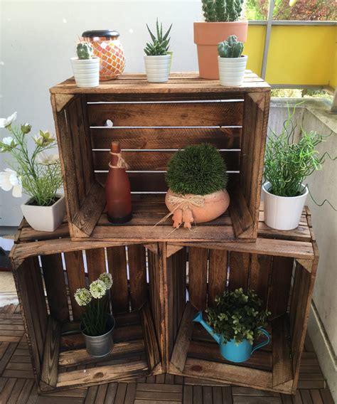 Dekoration Mit Obstkisten by Obstkisten Holzkisten Als Balkon Deko